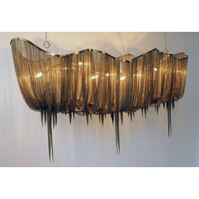 Atlantis 10-Light Linear Pendant Size: Medium, Finish: Bronze