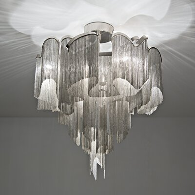 Stream 8-Light Waterfall Chandelier