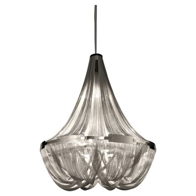 Soscik Chandelier Size: 118H x 57W, Finish: Nickel