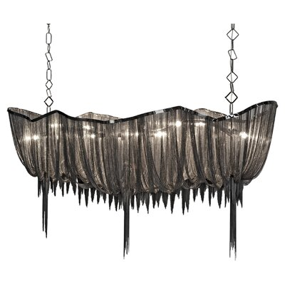 Atlantis 10-Light Linear Pendant Size: Medium, Finish: Black Nickel