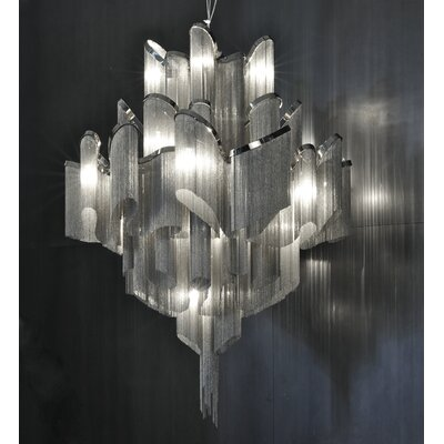 Stream 20-Light Waterfall Chandelier