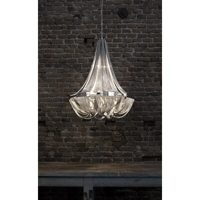Soscik Chandelier Finish: Nickel, Size: 74.8H x 28.3W