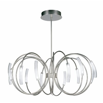 Hook 12-Light Globe Pendant Finish: Nickel