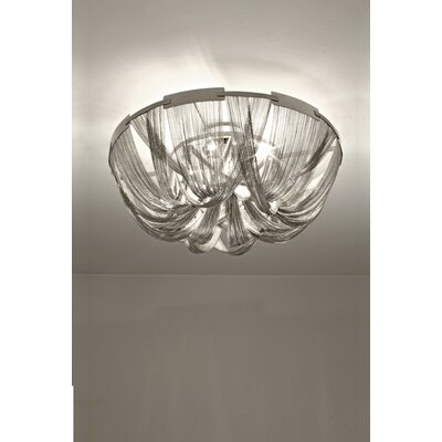Soscik Ceiling Light Finish: Bronze, Size: 13.8H x 28.3W