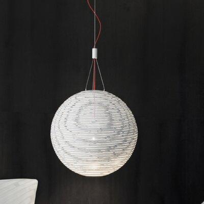 Magdalena 1-Light Globe Pendant Size / Finish: 74.8 H x 19.7 Dia / White