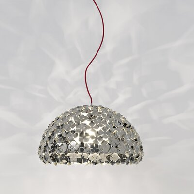 Ortenzia 1-Light Bowl Pendant Size / Finish: 75 H x 19.7 Dia / Nickel