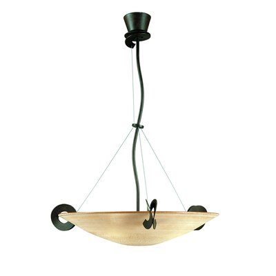 Solune 3-Light Pendant Finish / Diffuser Color: Rusty / Amber, Size: 19.7
