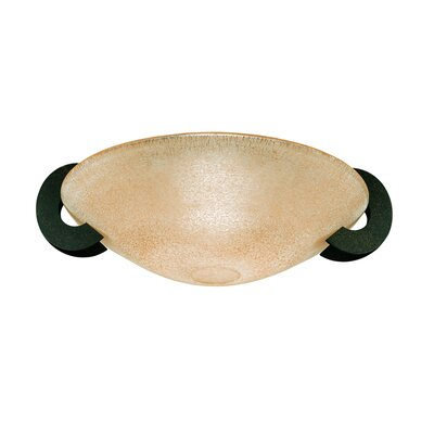 Solune 1-Light Flush Mount Ceiling Lamp Finish: Rusty / Amber