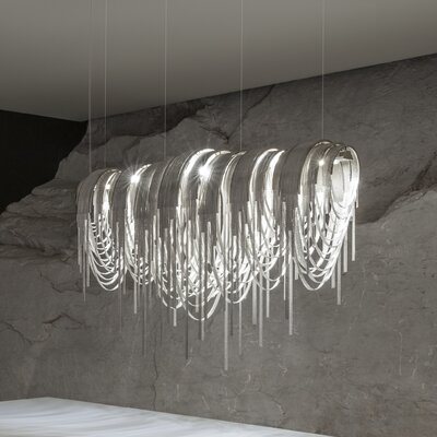 Volver Pendant Shade Color: Nickel, Size: 30.7 H x 72 W