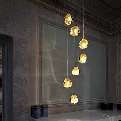 Mizu 7-Light Pendant Lights: 7 Light, Finish: Gold