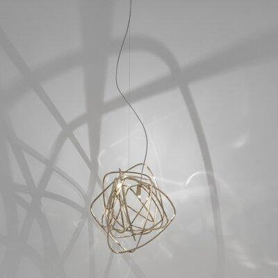 Doodle 1-Light Pendant Finish: Gold