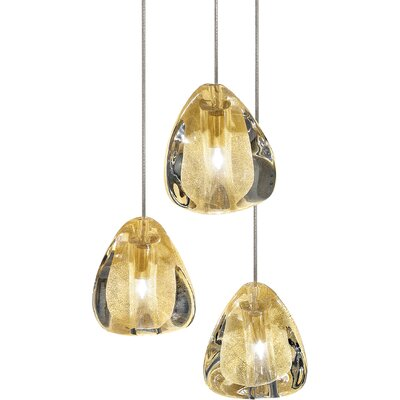 Mizu 3-Light Pendant Lights: 3 Light, Finish: Silver