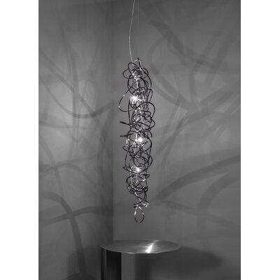 Doodle 6-Light Pendant Finish: Black Amethyst Nickel