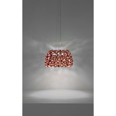 Anish 6-Light Drum Pendant Size: 10.2 H x 17.3 W, Finish: Copper Leaf