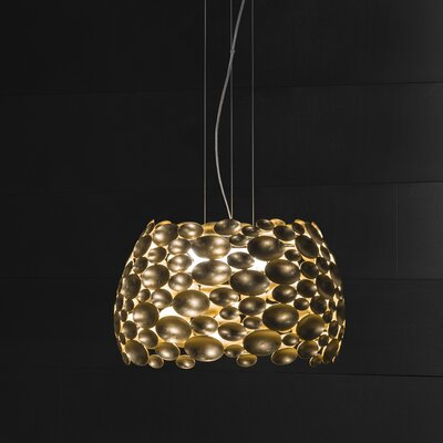 Anish 6-Light Drum Pendant Size: 15 H x 24.8 W, Finish: Gold Leaf