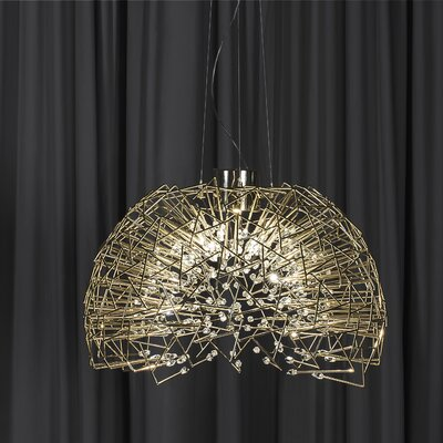 Core 1-Light Bowl Pendant Finish: Gold