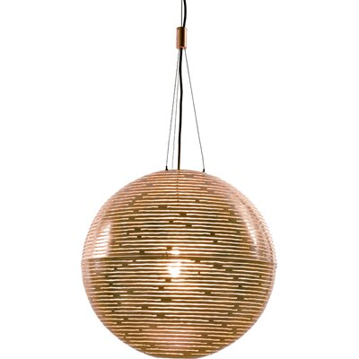 Magdalena 1-Light Globe Pendant Size / Finish: 74.8 H x 27.6 Dia / Gold