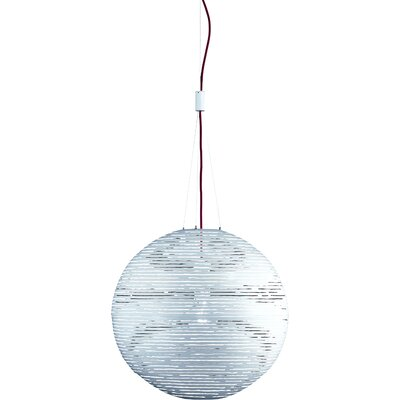 Magdalena 1-Light Globe Pendant Size / Finish: 74.8 H x 27.6 Dia / White