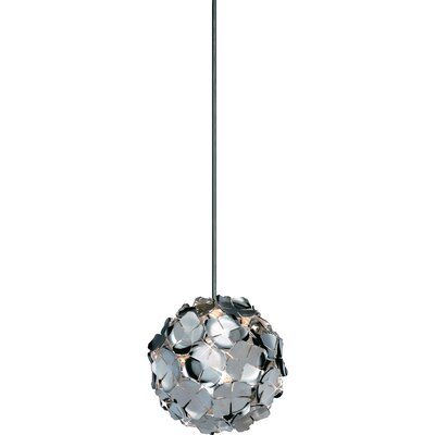 OrtenZia Mini 1-Light Pendant Finish: Nickel
