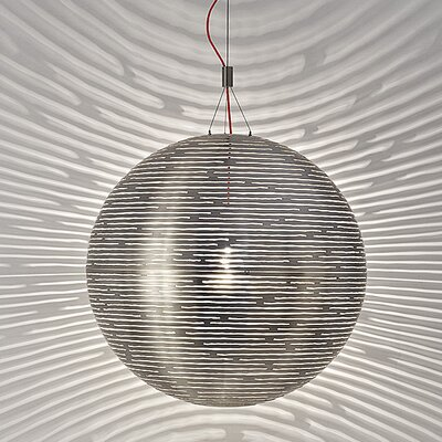 Magdalena 1-Light Globe Pendant Size / Finish: 74.8 H x 27.6 Dia / Tin-plated