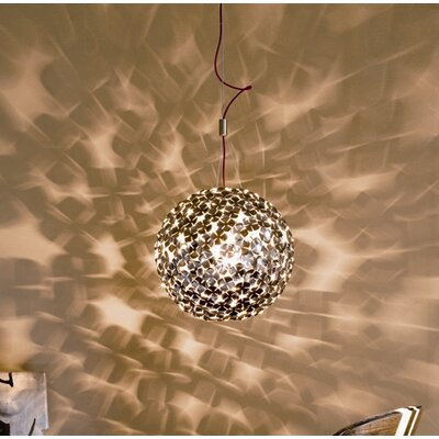 OrtenZia Medium 1-Light Globe Pendant Finish: Gold Plated
