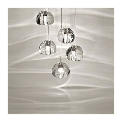 Mizu 5-Light Pendant Lights: 5 Light, Finish: Clear