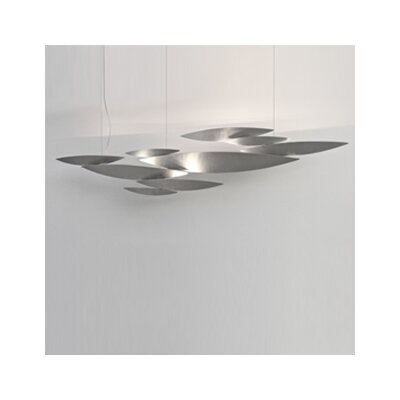 I Lucci Argentati 10-Light Inverted Pendant Size: 57, Finish: Brushed Nickel/ Metal