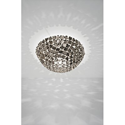 OrtenZia 1-Light Ceiling Lamp Size / Finish / Bulb Type: 11.4 H x 29.5 Dia / Nickel / 300W E26