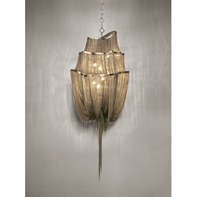 Atlantis 3 Tier 6-Light Crystal Chandelier Size: Large, Finish: Bronze