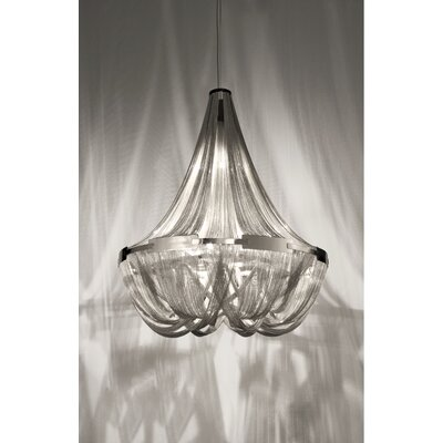 Soscik Chandelier Finish: Nickel, Size: 98.5H x 39.5W