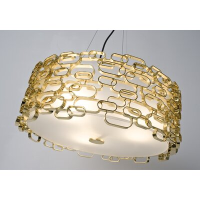Glamour 3-Light Pendant Finish: Gold