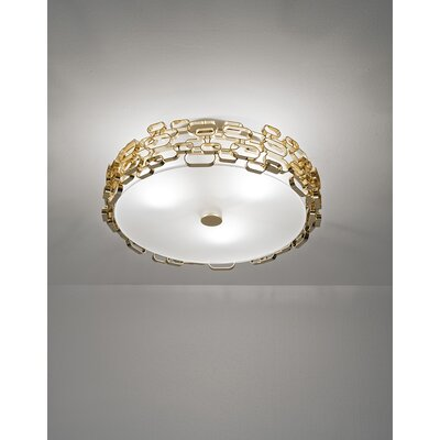 Glamour 3 Bulb Wall Sconce Finish: Gold