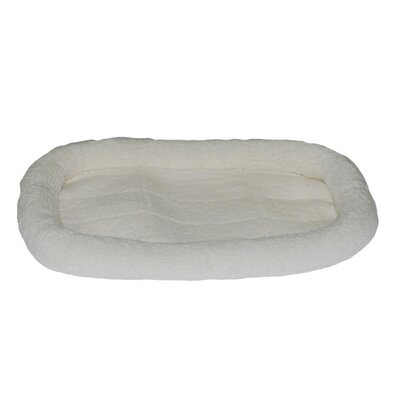 Fleece Donut Pet Bed Size: 22 L x 15 W