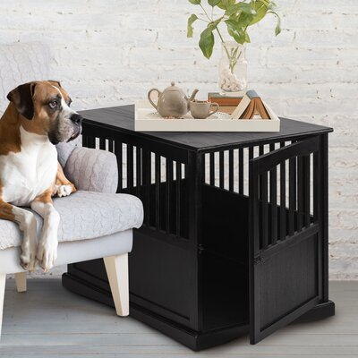 Pet Crate End Table Size: Small (24.25 H x 20 W x 27.5 D, Color: Espresso