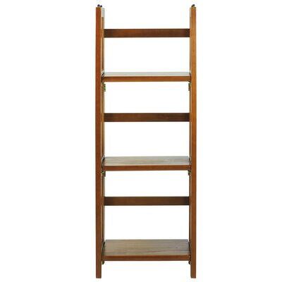 3 Shelf Folding Stackable 38 Accent Shelves Bookcase Finish: Honey Oak