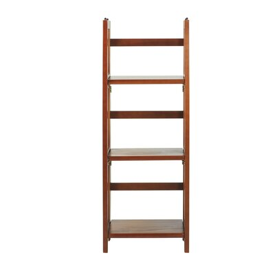 3 Shelf Folding Stackable 38 Accent Shelves Bookcase Finish: Mahogany