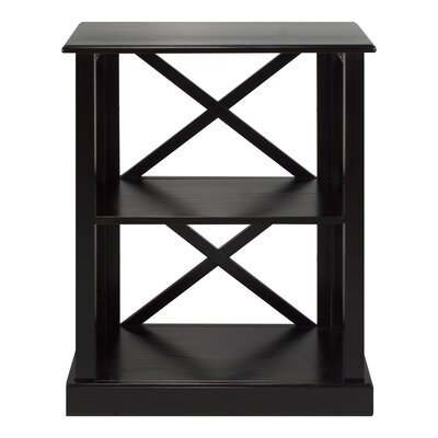 Bay View 3-Shelf 33 Standard Bookcase Finish: Black