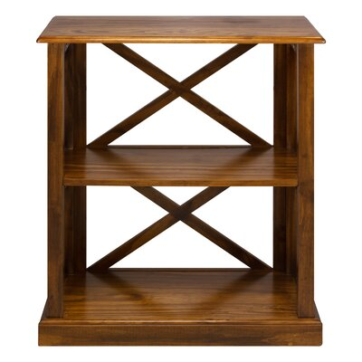 Bay View 3-Shelf 33 Standard Bookcase Finish: Brown