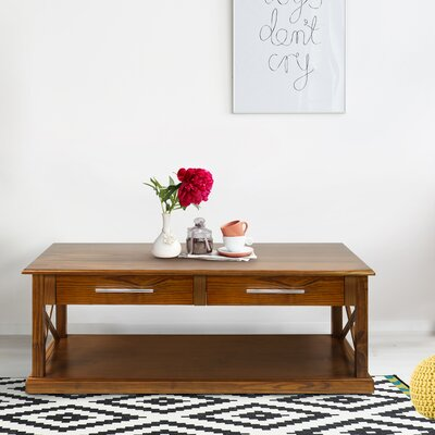 Bay View Coffee Table Finish: Warm Brown