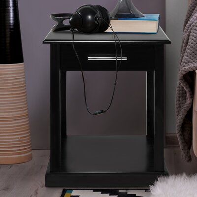 Bay View End Table Finish: Black