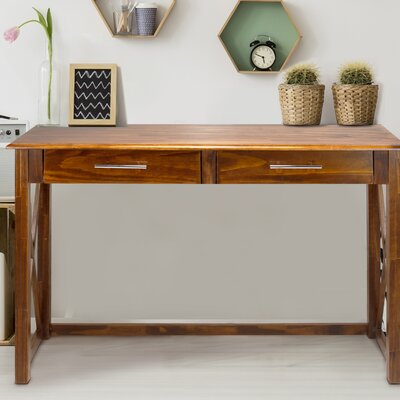 Bay View Console Table Finish: Warm Brown