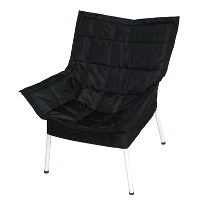 Milano Fabric Lounge Chair Finish: White, Color: Black