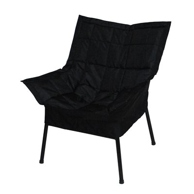 Milano Fabric Lounge Chair Finish: White, Color: Navy