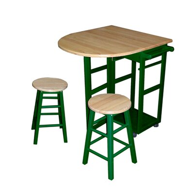 Casual Home Kitchen Cart Frame Finish: Green - Kitchen Island - Portable Kitchen Islands Shop