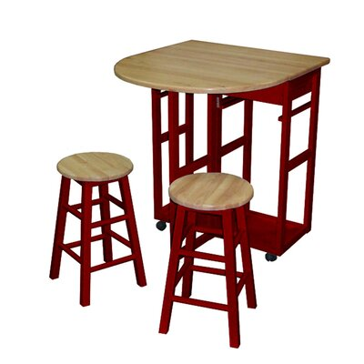 Casual Home Kitchen Cart Frame Finish: Red - Kitchen Island - Portable Kitchen Islands Shop