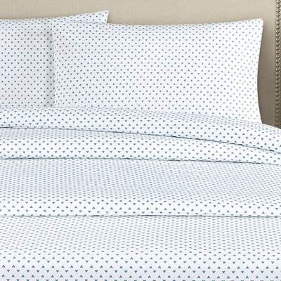 Cleo 250 Thread Count Cotton Percale Pillow Case Color: Navy
