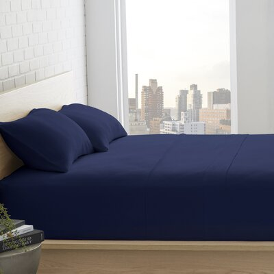 Sunni 4 Piece Sheet Set Size: Full, Color: Indigo Blue