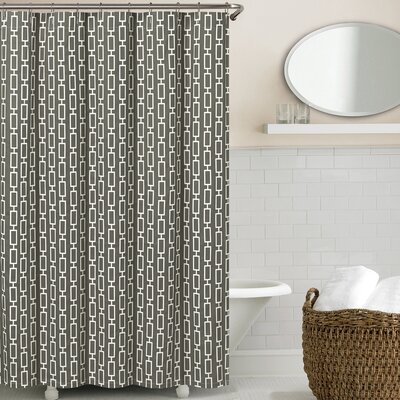 Cantu Shower Curtain Color: Charcoal
