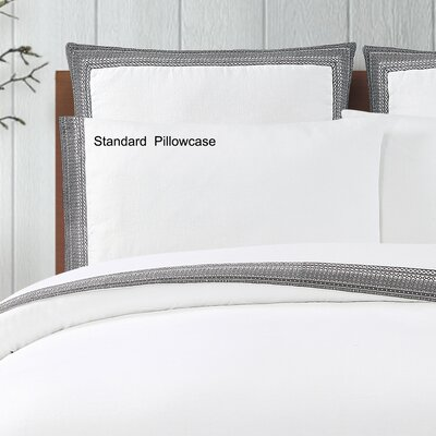 Blatherwick Embroidered Pillowcase Color: Slate Gray