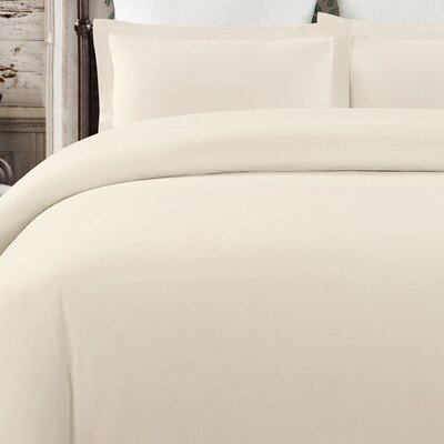 Krushap Vintage 3 Piece Duvet Set Color: Natural, Size: Queen